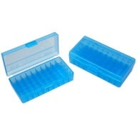 MTM PISTOL FLIP-TOP 50rd 38S-357M/CLEAR-BLUE 24/CS
