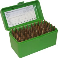MTM RIFLE FLIP-TOP 50rd 22 & 6PPC/6BR GREEN 24/CS