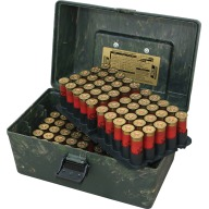 MTM SHOTSHELL TOP HANDLE 12g/2-50rd TRAYS/CAMO 6/C