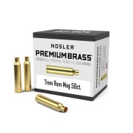 NOSLER BRASS 7MM REMINGTON MAG UNPRIMED 50/bx
