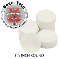 "BORE TECH COTTON PATCHES 1-1/2"" ROUND 1000/BAG"