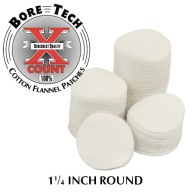 "BORE TECH COTTON PATCHES 1-1/4"" ROUND 1000/BAG"