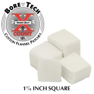 "BORE TECH COTTON PATCHES 1-1/8"" SQUARE 1000/BAG"