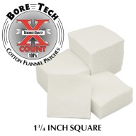 "BORE TECH COTTON PATCHES 1-3/4"" SQUARE 1000/BAG"