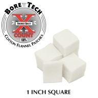 "BORE TECH COTTON PATCHES 1"" SQUARE 1000/BAG"
