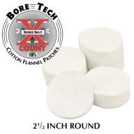 "BORE TECH COTTON PATCHES 2-1/2"" ROUND 1000/BAG"