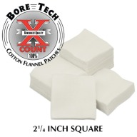 "BORE TECH COTTON PATCHES 2-1/4"" SQUARE 1000/BAG"