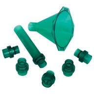 RCBS QUICK CHANGE POWDER FUNNEL KIT w/ 5 ADAPTORS