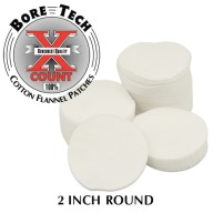 "BORE TECH COTTON PATCHES 2"" ROUND 1000/BAG"