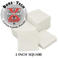 "BORE TECH COTTON PATCHES 2"" SQUARE 1000/BAG"