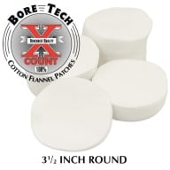 "BORE TECH COTTON PATCHES 3-1/2"" ROUND 500/BAG"