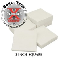 "BORE TECH COTTON PATCHES 3"" SQUARE 500/BAG"