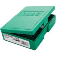 RCBS DIE STORAGE BOX GREEN, HOLDS 1-3 DIES