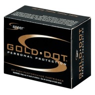 SPEER AMMO 40 S&W 165gr GoldDot-HP 20/bx 25/cs