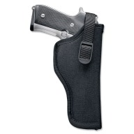 "UNCLE MIKES HIP HOLSTER BLACK 3-4"" MD/LG DBL ACTN REV. LEFT"