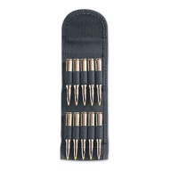 UNCLE MIKES FOLDING AMMO CARRIER BLACK RIFLE 10 LOOPS