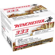 WINCHESTER AMMO 22LR 36gr COPPER PLATED HP 333/bx 10/cs