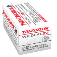 WINCHESTER AMMO 22LR WILDCAT 40g LEAD-RN 50/bx