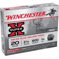 "WINCHESTER SLUG 20ga 2.75"" RIFLD 3/4oz 1600fps 5/bx 50/cs"