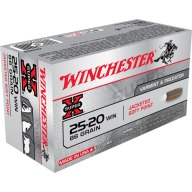 WINCHESTER AMMO 25-20 WINCHESTER SUPR-X 86gr FN-SP 50/bx 10/cs