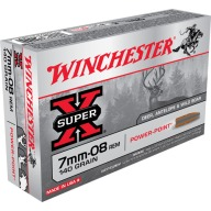 WINCHESTER AMMO 7MM-08 SUPER-X 140gr PP 20/bx 10/cs