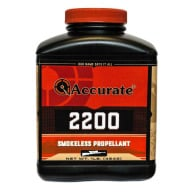 ACCURATE 2200 8LB POWDER (1.4c) 2/CS