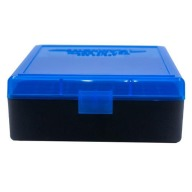 BERRY 38/357 HINGED-TOP BOX 100-ROUND BLUE 50/cs
