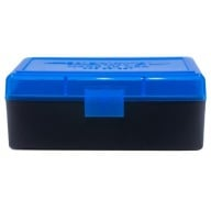 BERRY 38/357 HINGED-TOP BOX 50-ROUND BLUE 50/cs