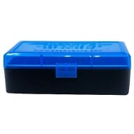 BERRY 44/45LC HINGED-TOP BOX 50-RND BLUE/BLK 50/cs