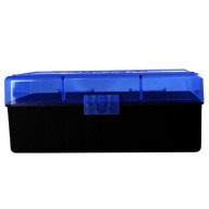 BERRY WSM HINGE-TOP BOX 50-ROUND BLUE 30/cs