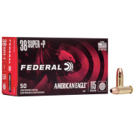 FEDERAL AMMO 38 SUPER+P 115gr JHP AM.-EAGLE 50/bx 20/cs