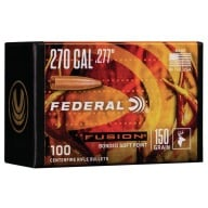 Federal 270cal (.277) Fusion 150gr BT Bullet Box of 100