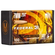 Federal 7MM (.284) Fusion 140gr BT Bullet 100 per box