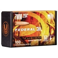 Federal 7MM (.284) Fusion 160gr BT Bullet Box of 100