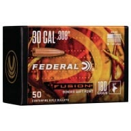 Federal 30cal (.308) Fusion 180gr BT Bullet Box of 50