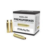 Nosler Brass 270 Weatherby Unprimed Box of 50