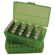 MTM PISTOL FLIP-TOP 50rd 9MM/380ACP/CLR-GREEN 24/C