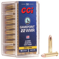 CCI AMMO 22 MAG 40gr GAME -POINT 50/bx 40/cs