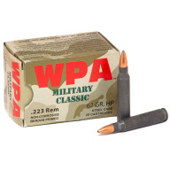 WOLF AMMO 223 REMINGTON 62gr HP MILITARY-CLASSIC 20b 25c