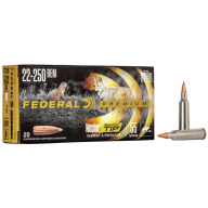 FEDERAL AMMO 22-250 REMINGTON 55gr NOSLER-BT (V/S) 20/bx 10/cs