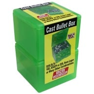 MTM CAST BULLET BOX CLEAR GREEN 2/PK 6/CS