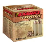 BARNES AMMO 41 REMINGTON MAG 180gr XPB 20/bx 10/cs
