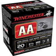 WINCHESTER AA 20ga 7/8oz LOW- RECOIL 890fps #8 250/cs