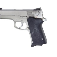 HOGUE GRIP S&W COMPACT 9mm SINGLE STACK BLACK