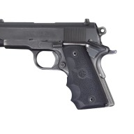 HOGUE GRIP COLT OFFICER'S MODEL SINGLE STACK BLACK