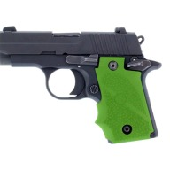 HOGUE GRIP SIG SAUER P238 FINGER GROOVE ZOMBIE GRN
