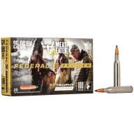 FEDERAL AMMO 25-06 REMINGTON 100gr TROPHY COPPER 20/bx 10/cs