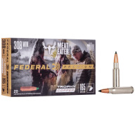 FEDERAL AMMO 308 WINCHESTER 165gr TROPHY COPPER 20/bx 10/cs