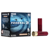 "FEDERAL AMMO 12ga 3.5"" STEEL 1550fps 1-3/8 #4 25b 10c"