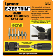 LYMAN E-ZEE TRIM HAND CASE TRIMMER HANDGUN SET